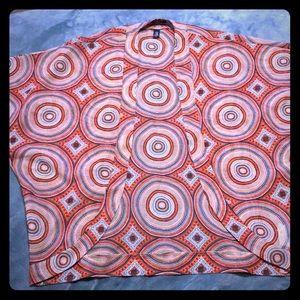 Gap Orange and Blue Kimono